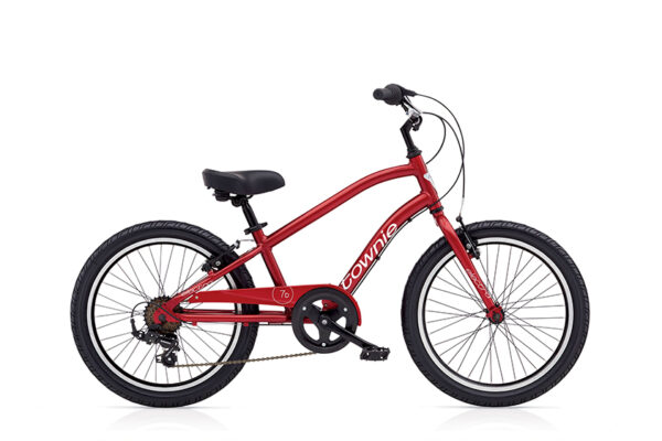 """TOWNIE KIDS 7D (20"""" WHEELS) BOYS ELECTRIC RED low"""