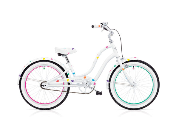 "HEARTCHYA KIDS 1  3i (20"" WHEELS) GIRLS WHITE low"